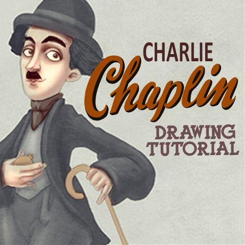 how to draw Charlie Chaplin