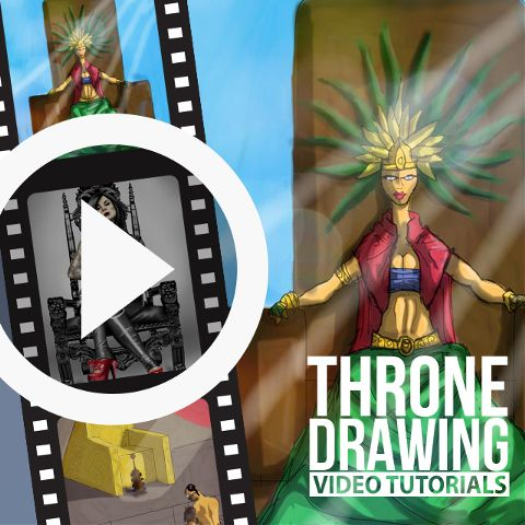 throne drawing time lapse video