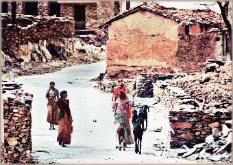 village india people rajasthan hut