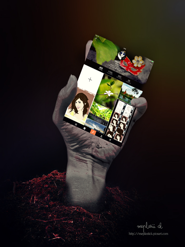 """""""Picsart vs Zombie user""""...lol  Everywhere with you  #picsartinhand #myhand #artistic #funny #art"""