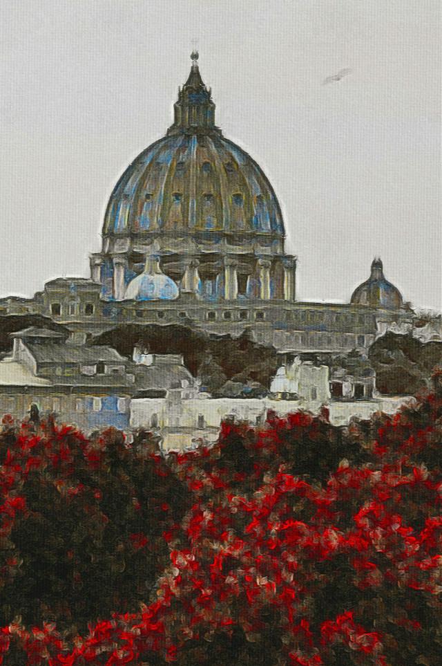 St. Peter.  #photography #vintage #retro #landscape #rome  #oldphoto
