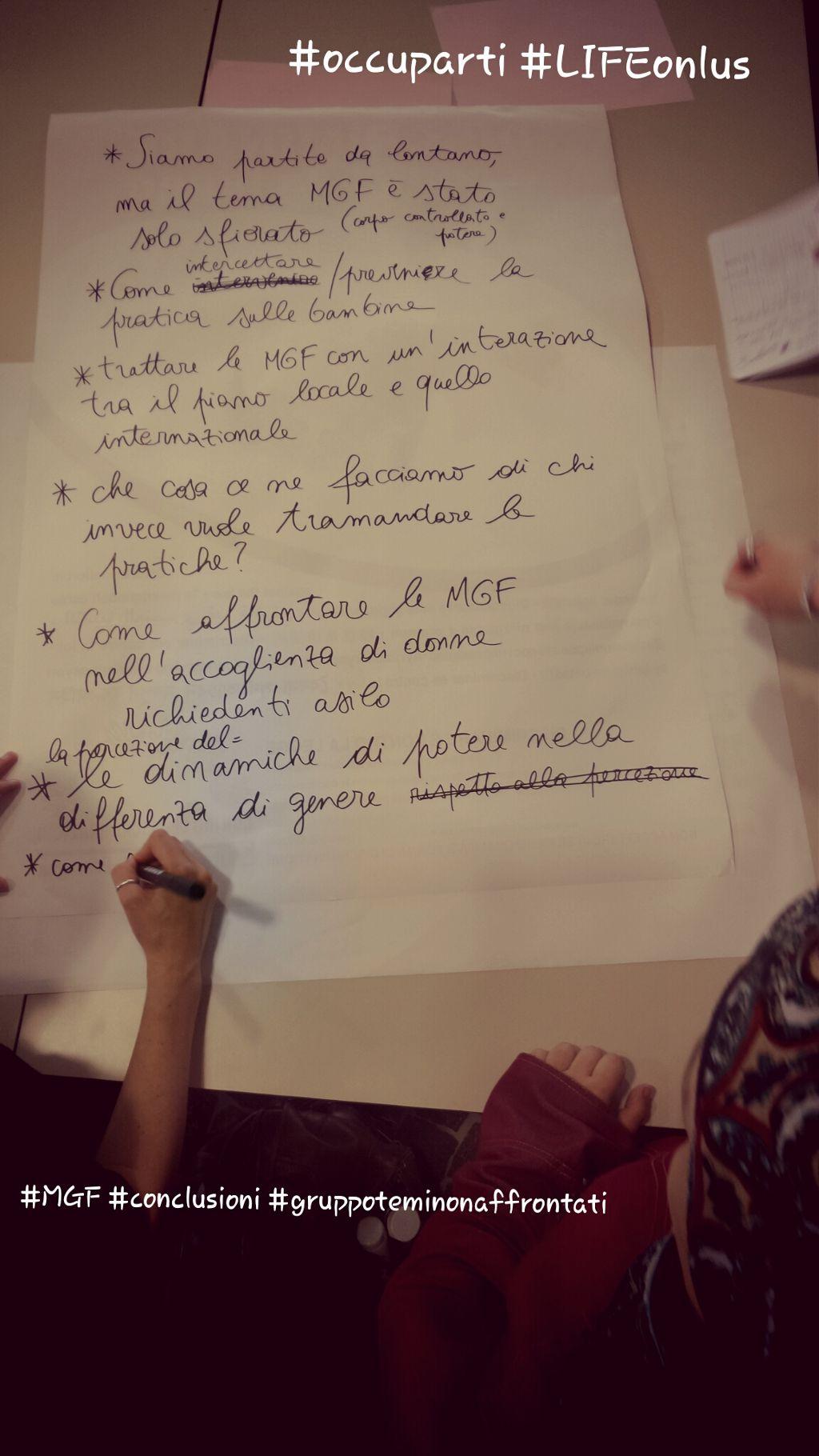 #MGF #conclusioni #gruppoteminonaffrontati #MGFravenna #LIFEonlus #icorpideglialtri