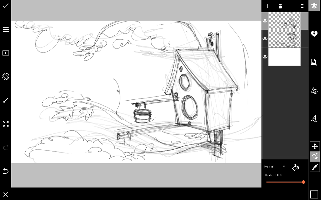 how to draw a birdhouse