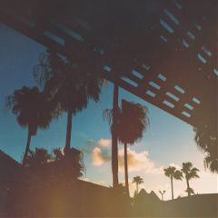 ibelieveinwords poetry sunset palmtrees portaransas seashellvillage iphone