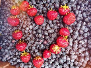 strawberries blueberries berry