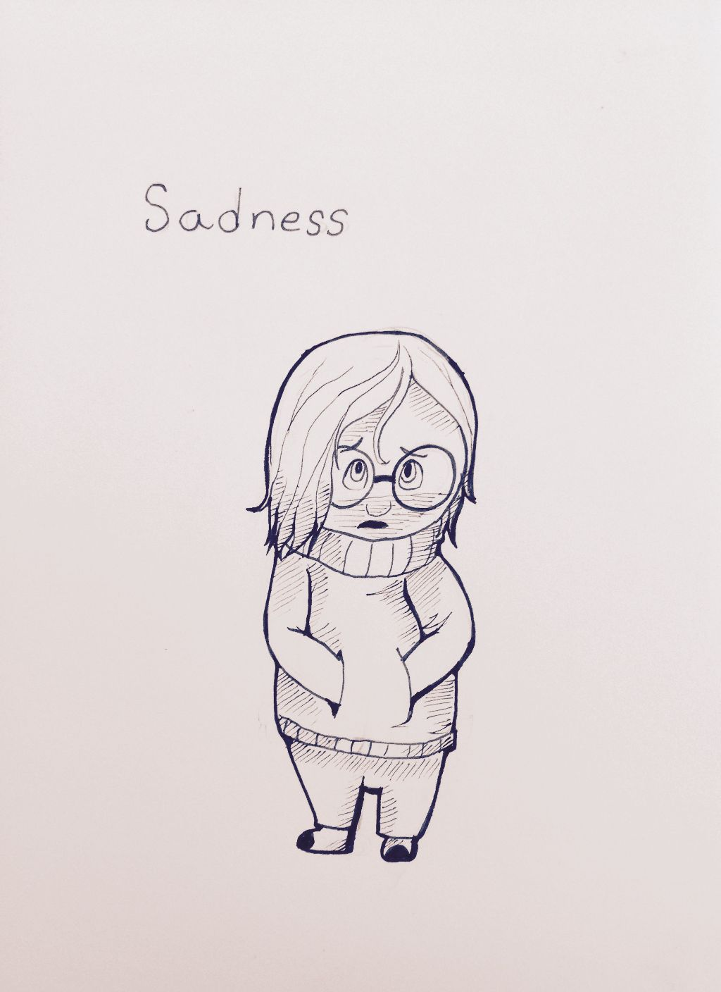 Sadness sketch from disney pixars newest movie inside out if you havent