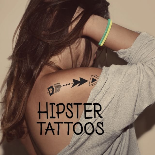 hipster tattoos clipart