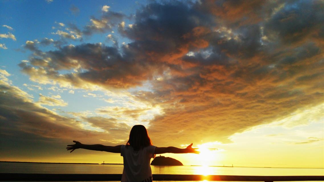 #Setting#Sea#Scenery#夕陽#海#景色#空#Sky#夕阳#석양#Sole#onderweg#Paesaggio#tramonto#mare#cielo#风景#日落#大海#天空