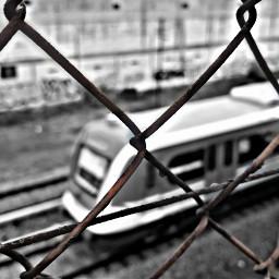 train b black photography popart