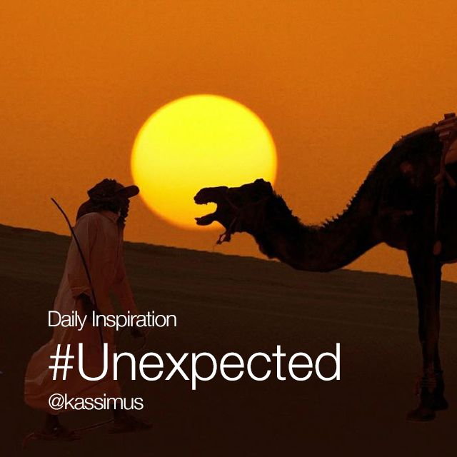 Friday Inspiration #Unexpected