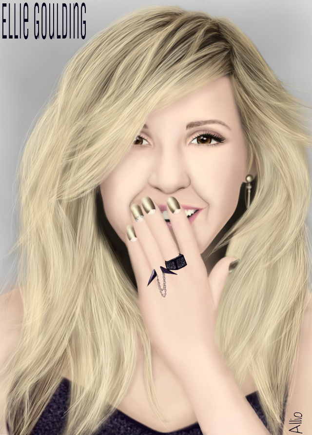 Ellie Goulding drawn by me in PicsArt, no effects. Watch the video on http://youtu.be/43AAcFCtB58  #drawing #elliegoulding #portrait #artistic #people #singer #woman