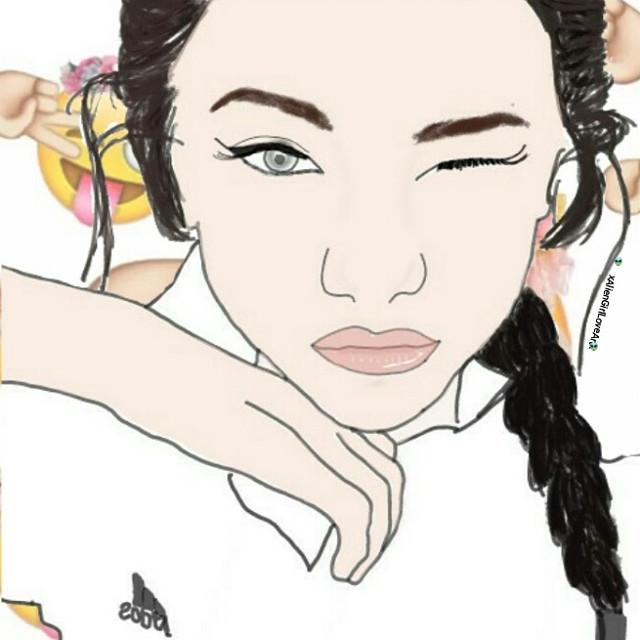 Its Friday!!💕👽  #art #drawing #digitalart #outlinesart #outlines #outlinessketch #outlinesaccount #AlienGirlLoveArt #girl #hk #outlinerhk #outliner #grunge #grungegirl #colourbackground