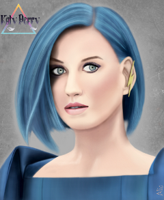 drawing katyperry portrait singer woman