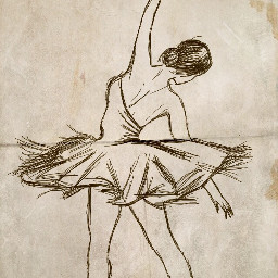 dcsketch art sketch draw ballerina