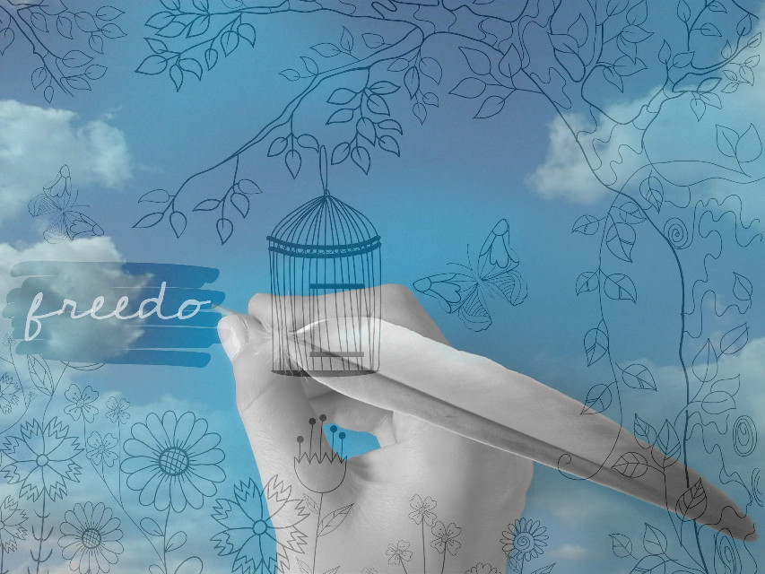 #freedom #freetoedit #cage #creative #writing