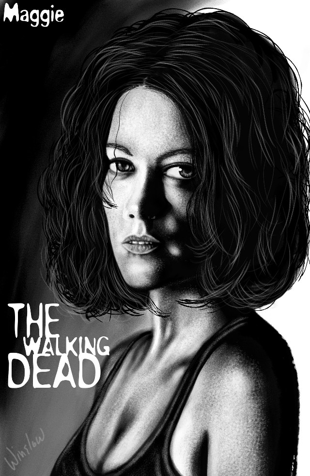 #dcsketch Maggie The Walking Dead watch the video please and I added walking dead tracksound in it http://youtu.be/LbvbtwXYcSs #art #drawing #portrait #bla #blackandwhite