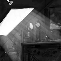 dcsketch drawing window room blackandwhite