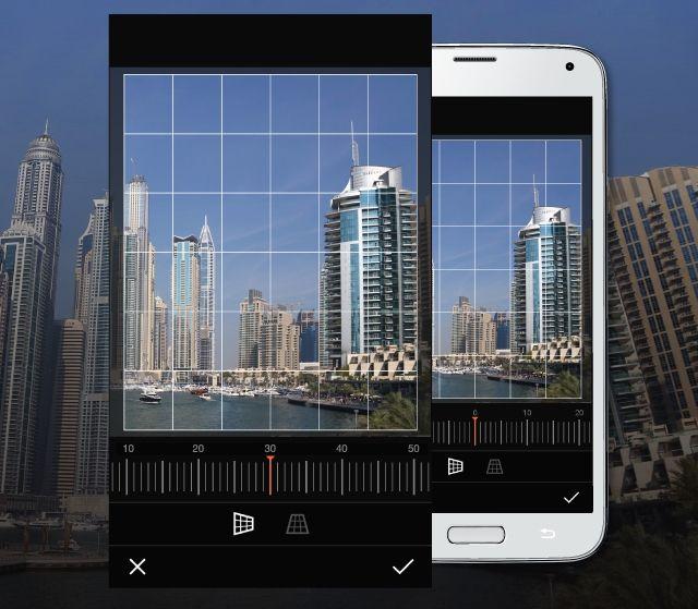 PicsArt Editor Perspevtive tool
